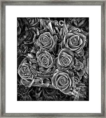 Supermarket Roses Framed Print by Walt Foegelle