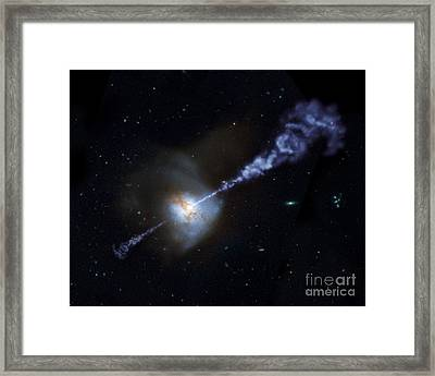 Supermassive Black Hole Framed Print by American School