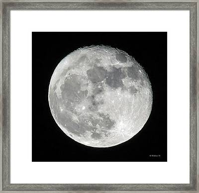 Supermoon 11-15-16 Framed Print by Brian Wallace