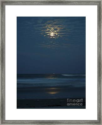 Supermoon Between The Clouds Framed Print by D Hackett