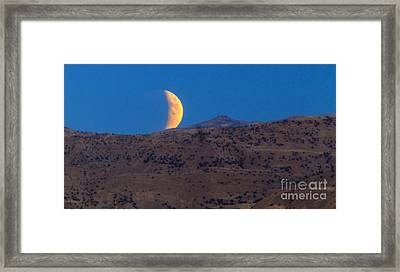 Supermoon Eclipse Framed Print