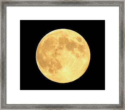 Supermoon Full Moon Framed Print by Kyle West