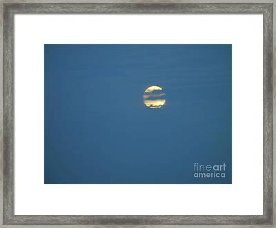 Supermoon Hide And Seek Framed Print by D Hackett