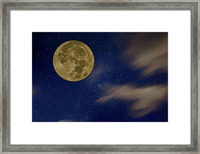 Supermoon - Night Sky Framed Print by Nikolyn McDonald