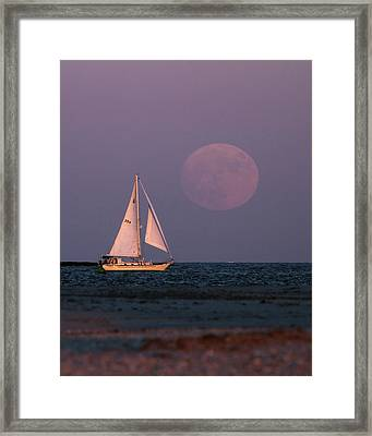 Supermoon Two Framed Print