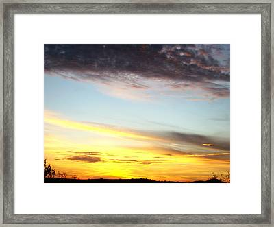 Supernatural Sunset One Framed Print by Ana Villaronga