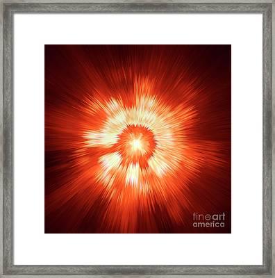 Supernova 2 Framed Print by Steve K
