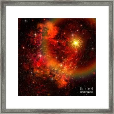 Supernova Framed Print by Corey Ford