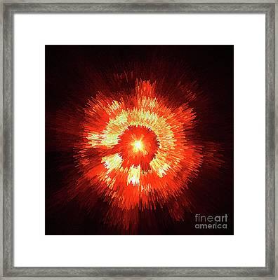 Supernova Framed Print by Steve K