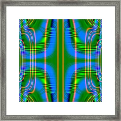 Superposition Of Trigonometric Curves No 001 Framed Print