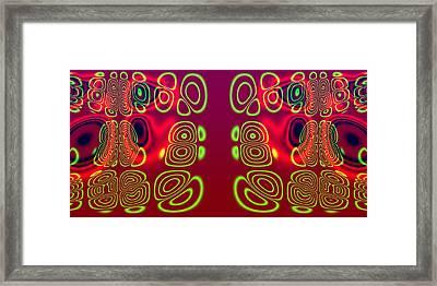 Superposition Of Trigonometric Curves No 003 Framed Print