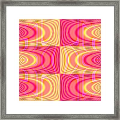 Superposition Of Trigonometric Curves No 004 Framed Print