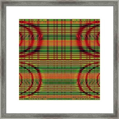 Superposition Of Trigonometric Curves No 005 Framed Print