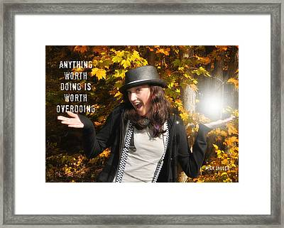 Superstar Quote Framed Print by JAMART Photography