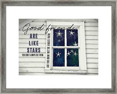 Superstars Quote Framed Print by JAMART Photography