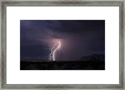 Superstition Lightning  Framed Print