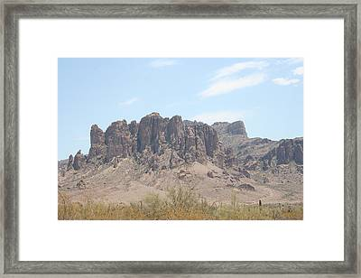 Superstition Mountain Framed Print by Gregory Jeffries
