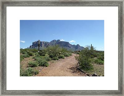 Framed Print featuring the photograph Superstition Trails by Gordon Beck