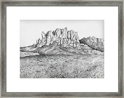 Superstition Wildflowers Framed Print