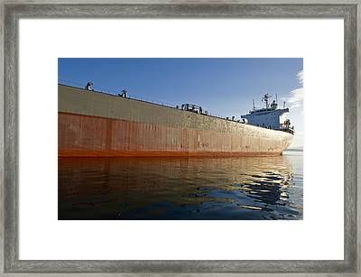 Supertanker Framed Print by Tom Dowd