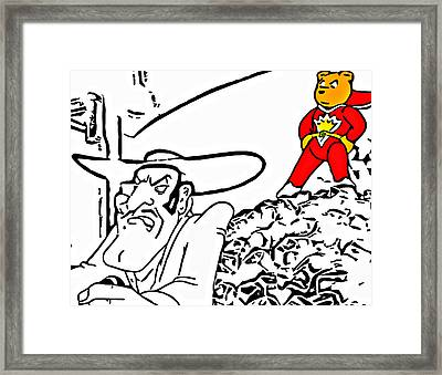 Superted And Texas Pete Framed Print by Rpics Rpics