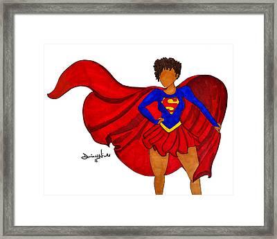Superwoman I Am  Framed Print by Diamin Nicole