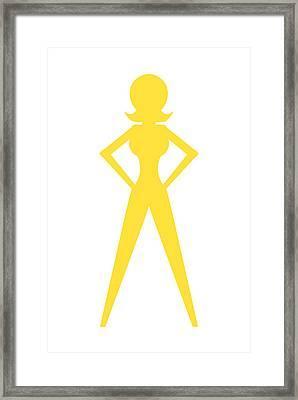 Superwoman Logo Framed Print