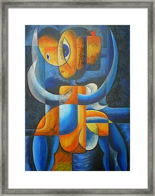Suplication Framed Print by Marta Giraldo