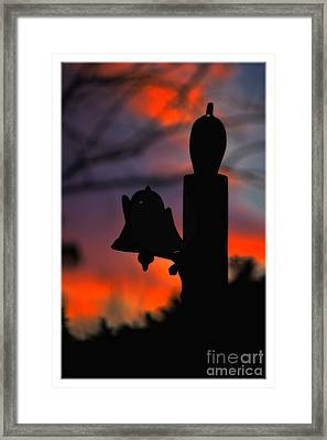 Supper Bell At Sunset Framed Print