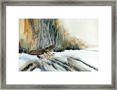 Supper  Maybe Framed Print by Lynne Parker