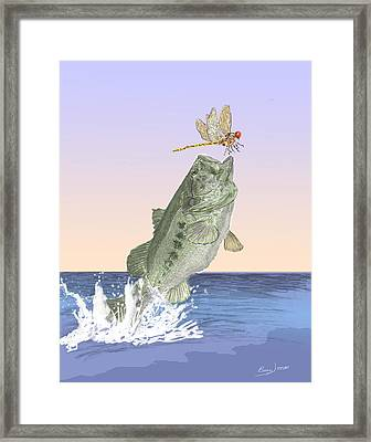 Supper Time Framed Print by Barry Jones