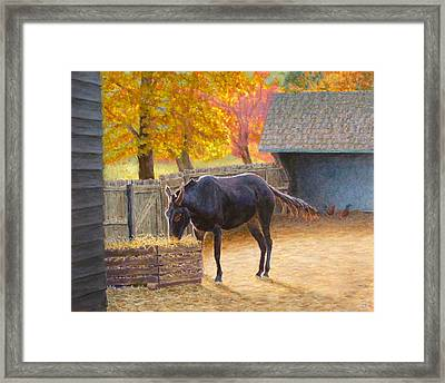 Supper Time Framed Print