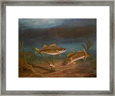 Supper Time Framed Print by Sheri Keith