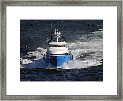 Supply Boat  Framed Print by Bill Perry