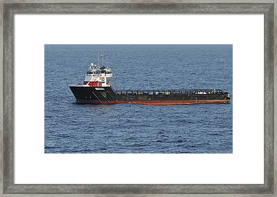 Framed Print featuring the photograph Supply Vessel Claire Candies by Bradford Martin