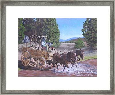 Supply Wagon Framed Print