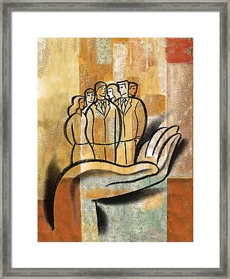 Support, Collaboration Framed Print by Leon Zernitsky