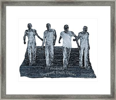 Framed Print featuring the digital art Support Each Other by Lance Sheridan-Peel