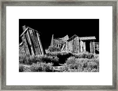 Support Your Local Outhouse Framed Print