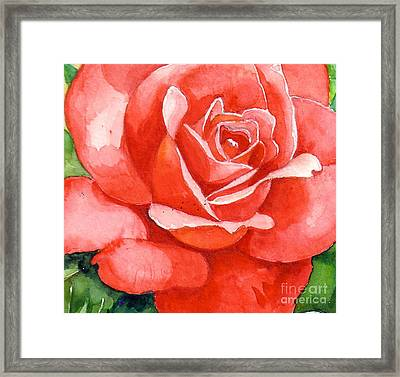 Supreme Beauty Framed Print by Val Stokes