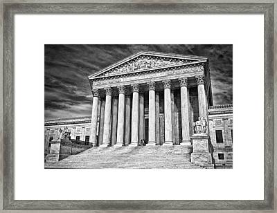 Supreme Court Building 2 Framed Print by Val Black Russian Tourchin