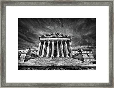 Supreme Court Building In Black And White Framed Print by Val Black Russian Tourchin