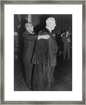 Supreme Court Chief Justice Earl Framed Print by Everett