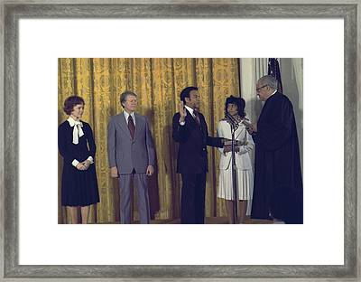 Supreme Court Justice Thurgood Marshall Framed Print by Everett