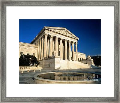 Supreme Court, Washington, D.c Framed Print by Joseph Sohm