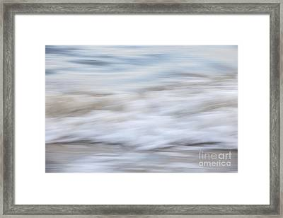 Surf Abstract 1 Framed Print by Elena Elisseeva