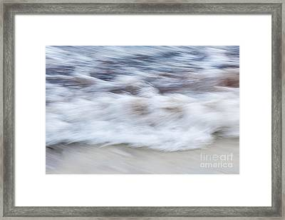 Surf Abstract 2 Framed Print by Elena Elisseeva