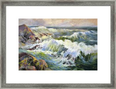 Surf Action Framed Print