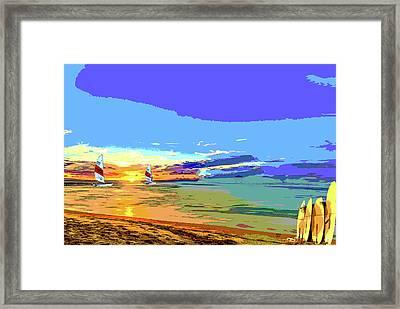 Surf And Sailing Framed Print