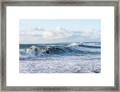 Surf And Sky Framed Print